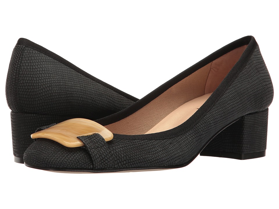 French Sole - Royal (Black Ibiza Printed Leather) Women's Shoes