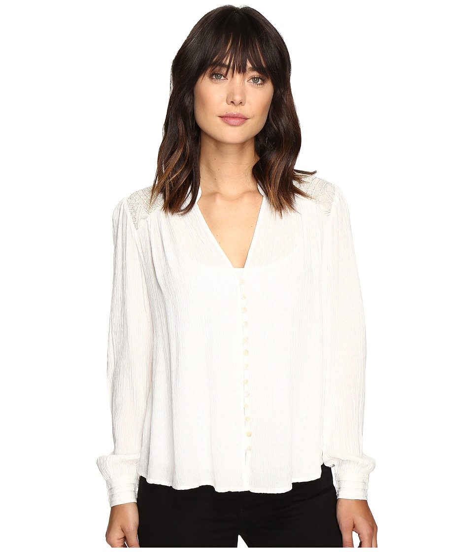 Free People - Canyon Rose Button Down (Ivory) Women's Clothing