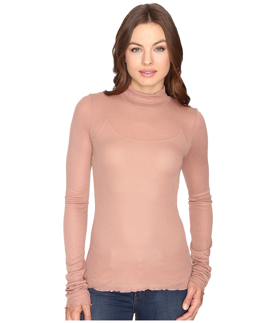 Free People - Modern Layering Turtleneck (Rose) Women's Clothing