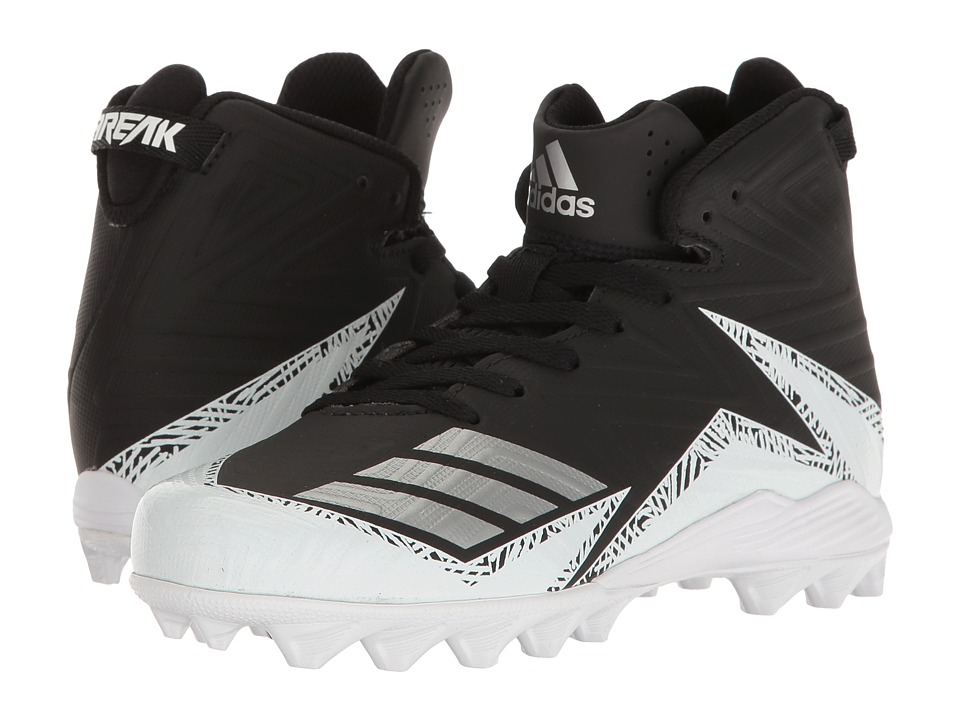 adidas Kids - Freak MD Football (Toddler/Little Kid/Big Kid) (Black/White/Silver) Boys Shoes