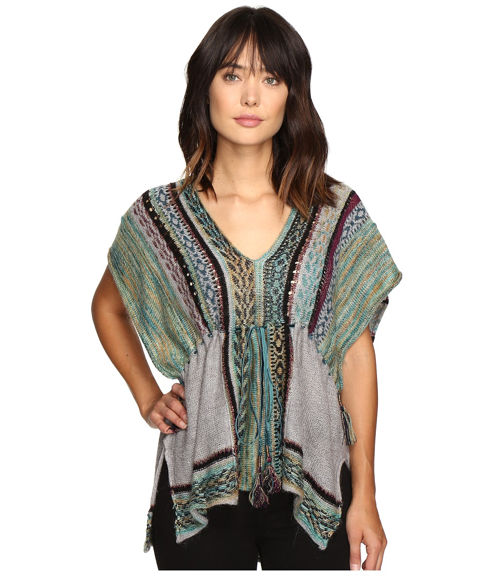 Free People - Moonlit Path Pullover (Green Combo) Women's Short Sleeve Pullover