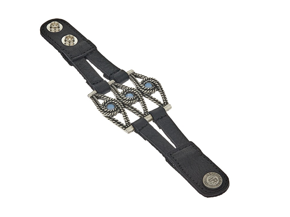 Leatherock - B889 (Black) Bracelet