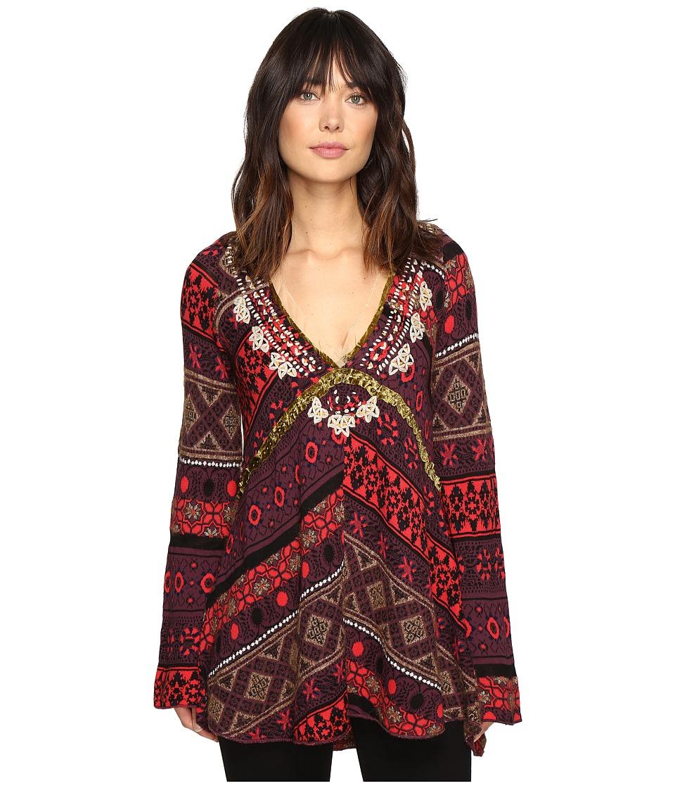 Free People World Traveler Pullover (Wine) Women