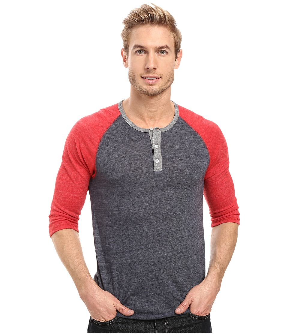 Alternative - Raglan Henley (Eco True Navy/Eco True Red/Eco Grey) Men's Clothing