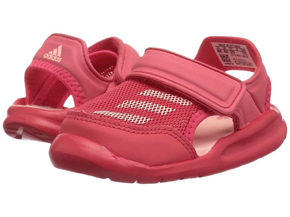 adidas Kids Forta Swim 1 (Infant/Toddler) (Core Pink/Haze Coral) Girls Shoes