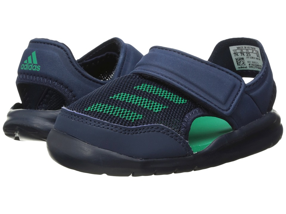 adidas Kids Forta Swim 1 (Infant/Toddler) (Collegiate Navy/Core Green) Boys Shoes