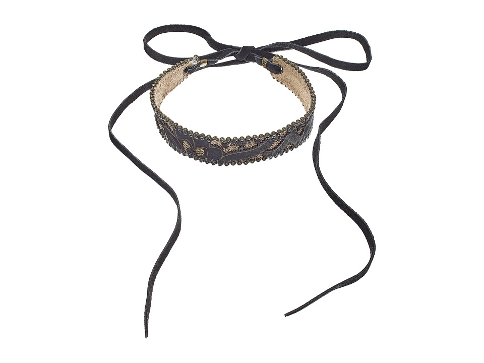 Leatherock - N225 (Black/Taupe) Necklace