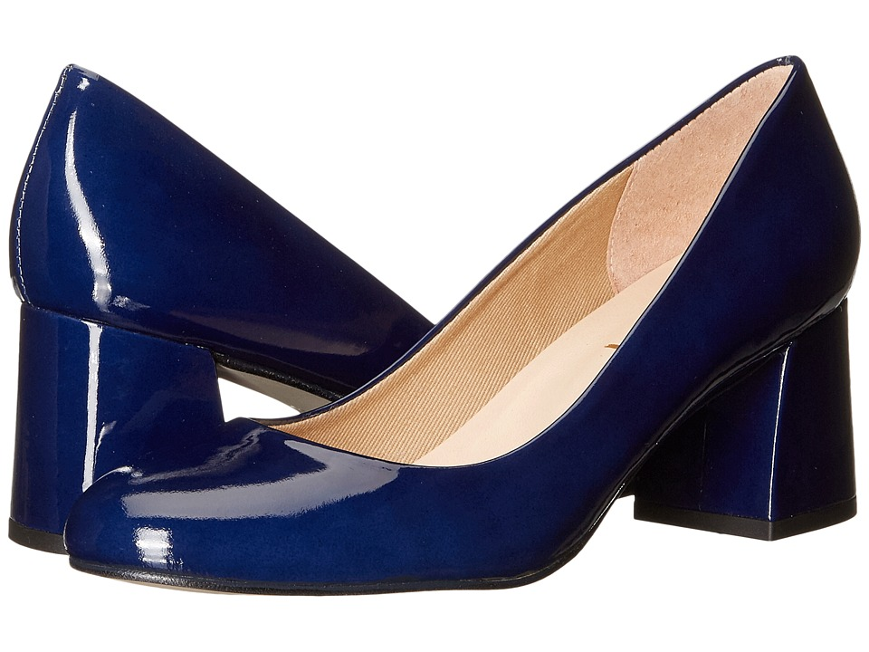 French Sole - Trance (Deep Blue Patent Leather) Women's Flat Shoes