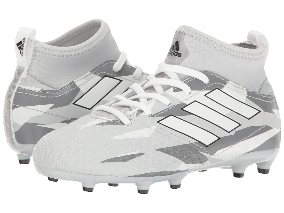 adidas Kids Ace 17.3 Primemesh FG Soccer (Little Kid/Big Kid) (Clear Grey/White/Black) Kids Shoes
