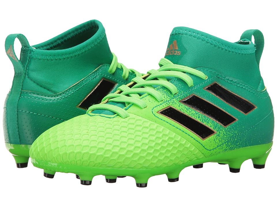adidas Kids Ace 17.3 Primemesh FG Soccer (Little Kid/Big Kid) (Solar Green/Black/Core Green) Kids Shoes