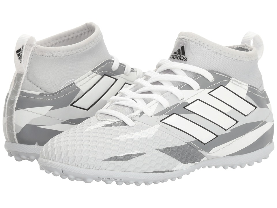 adidas Kids - Ace 17.3 Primemesh TF Soccer (Little Kid/Big Kid) (Clear Grey/White/Black) Kids Shoes