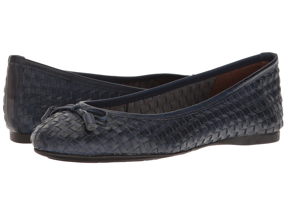 French Sole - Vogue (Navy Leather) Women's Shoes