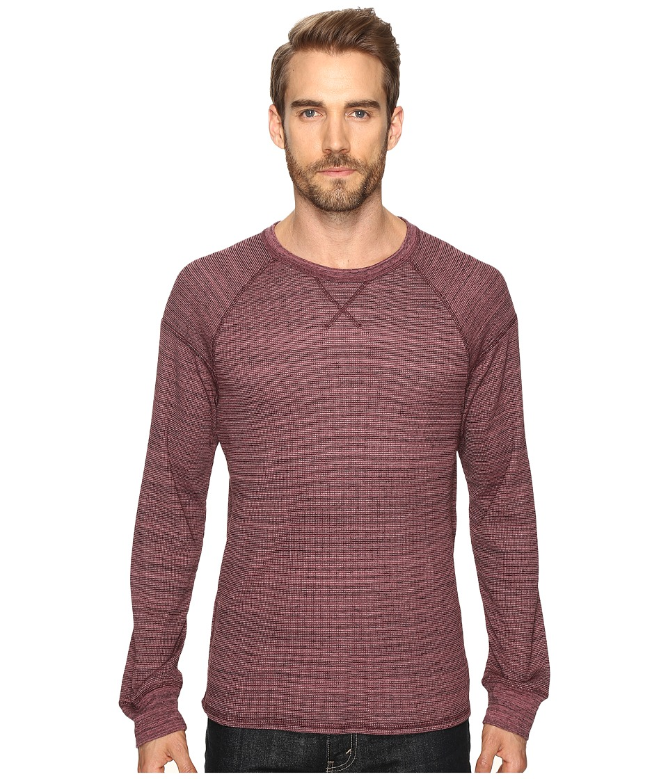 Alternative - Eco Space Dye Thermal Onboard Crew Neck (Currant Space Dye) Men's Clothing