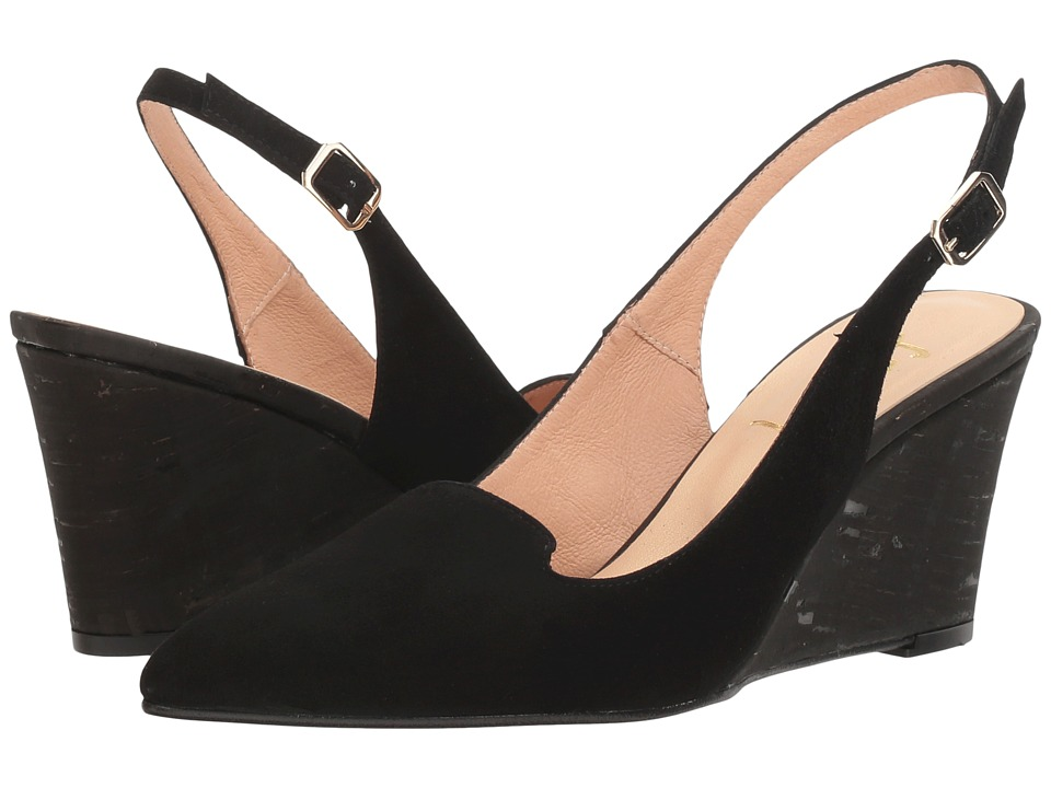 French Sole - Water (Black Suede/Cork) Women's Shoes