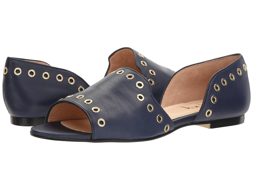 French Sole - Whistle (Navy Soft Calfskin Leather) Women's Shoes