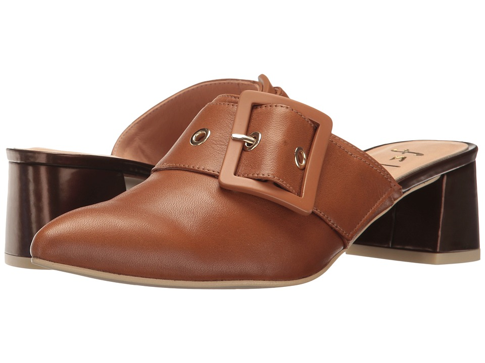 French Sole Widget (Whiskey Soft Calfskin Leather/Copper Metallic Leather) Women
