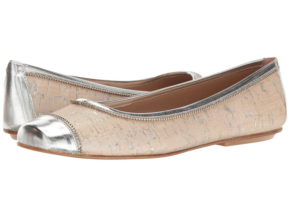 French Sole - Wild (Off-White/Silver/Cork/Metallic Leather) Women's Shoes