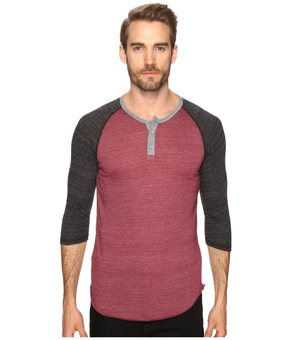 Alternative - Raglan Henley (Eco True Currant/Eco Black/Eco Grey) Men's Clothing