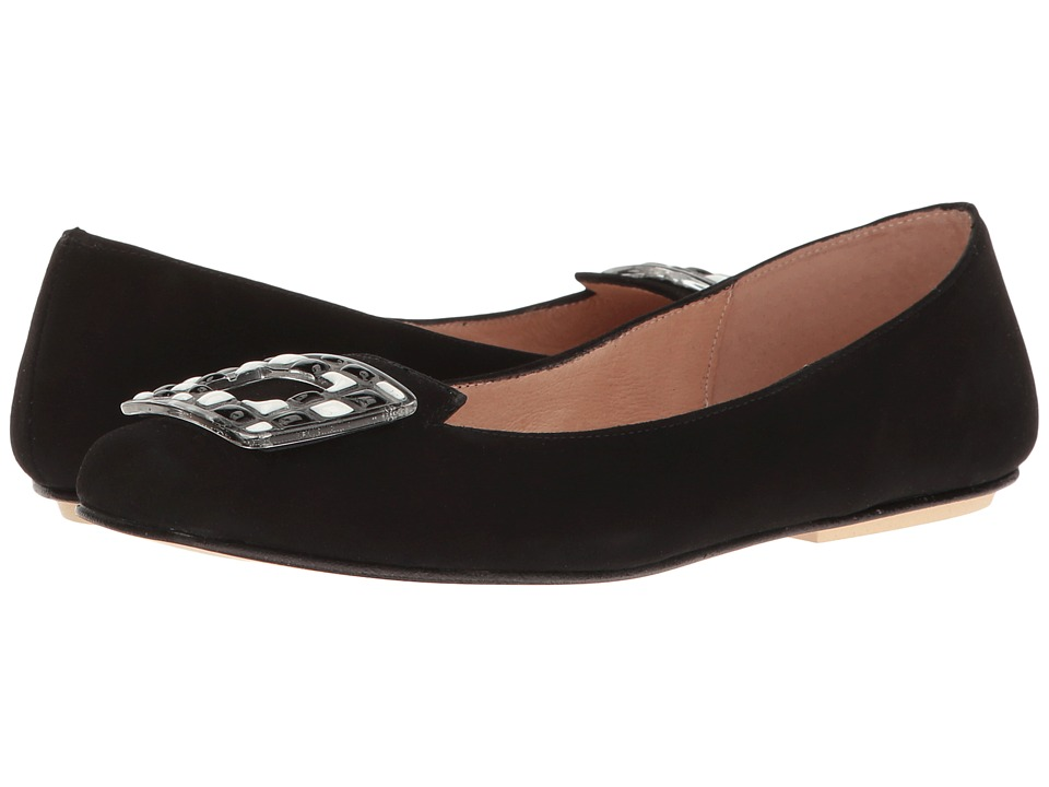 French Sole - Wizard (Black Suede) Women's Shoes
