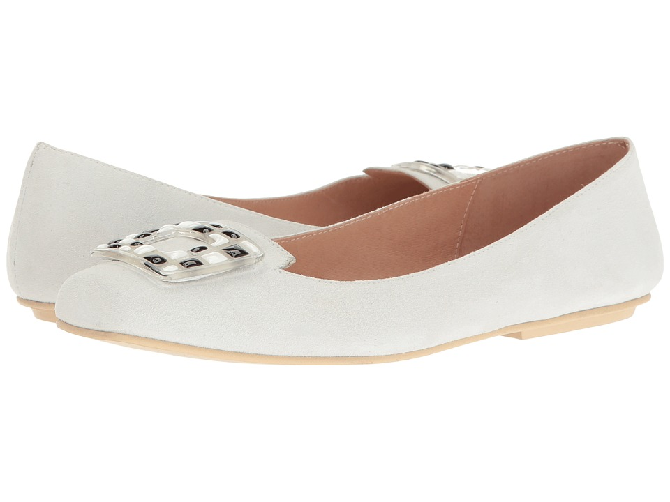French Sole - Wizard (White Suede) Women's Shoes