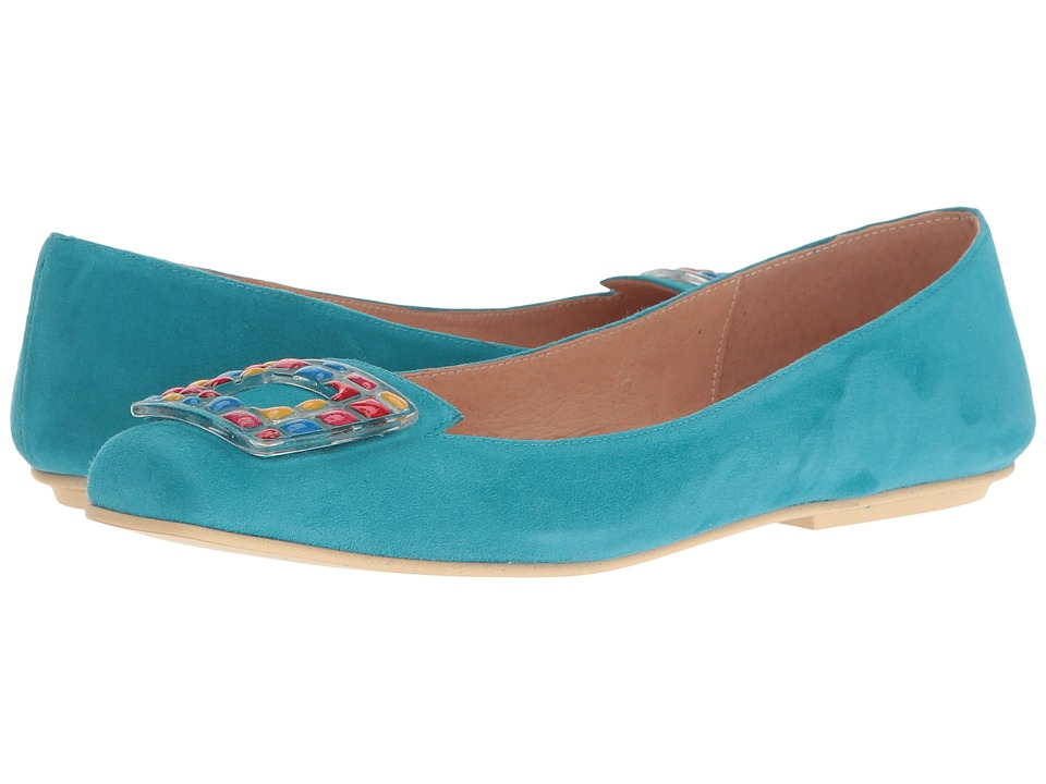 French Sole - Wizard (Turquoise Suede) Women's Shoes
