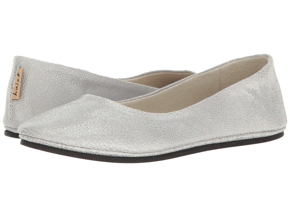 French Sole - Sloop (Silver Pandora Print Leather) Women's Flat Shoes