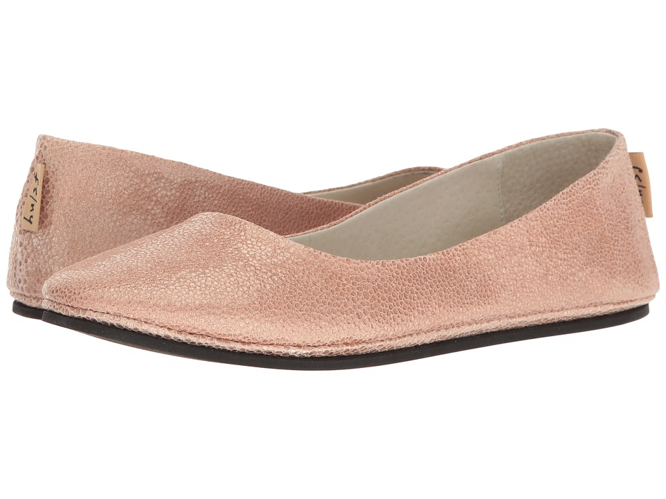 French Sole - Sloop (Rose Pandora Print Leather) Women's Flat Shoes