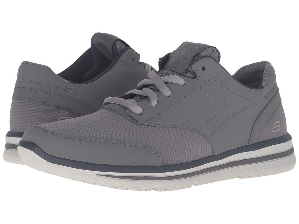 SKECHERS - Relaxed Fit Doren - Mercier (Charcoal Gray Synthetic) Men's Lace up casual Shoes