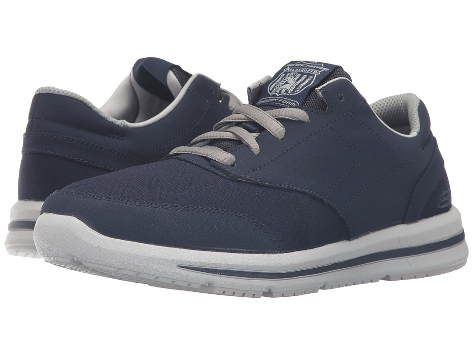 SKECHERS - Relaxed Fit Doren - Mercier (Navy Synthetic) Men's Lace up casual Shoes