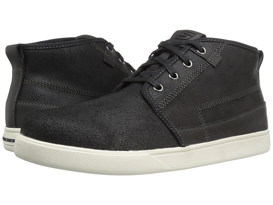SKECHERS Classic Fit Venice Macklin (Black Leather) Men