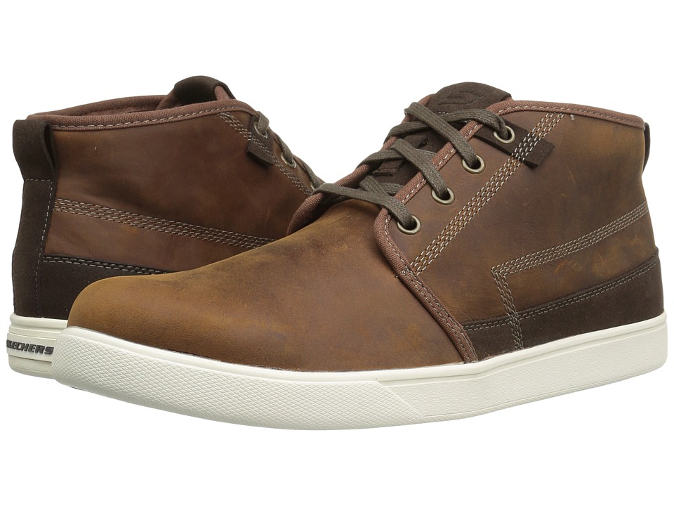 SKECHERS Classic Fit Venice Macklin (Dark Brown Leather) Men
