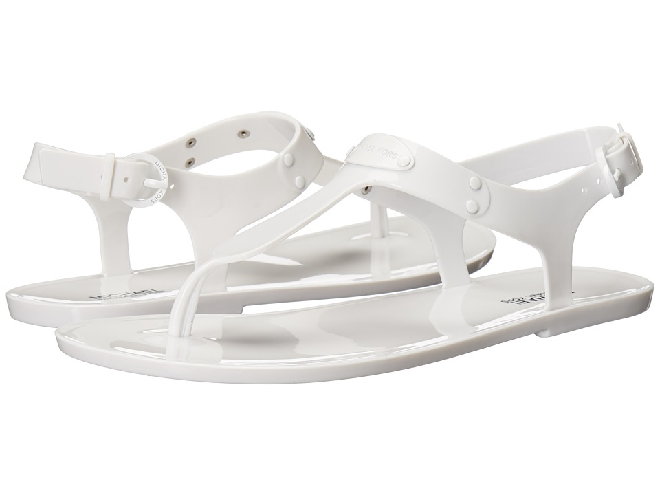 MICHAEL Michael Kors - MK Plate Jelly (Optic White) Women's Sandals