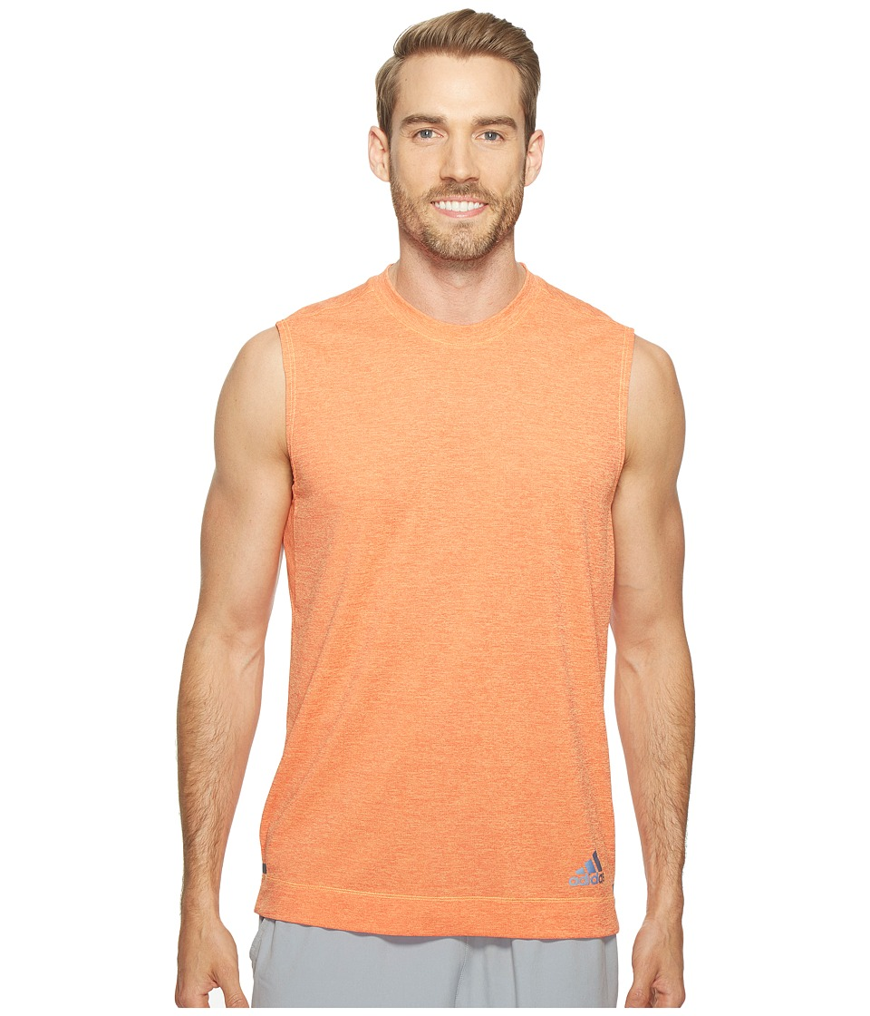 adidas - Climachill Sleeveless Tee (Chill Solar Gold/Energy) Men's Sleeveless
