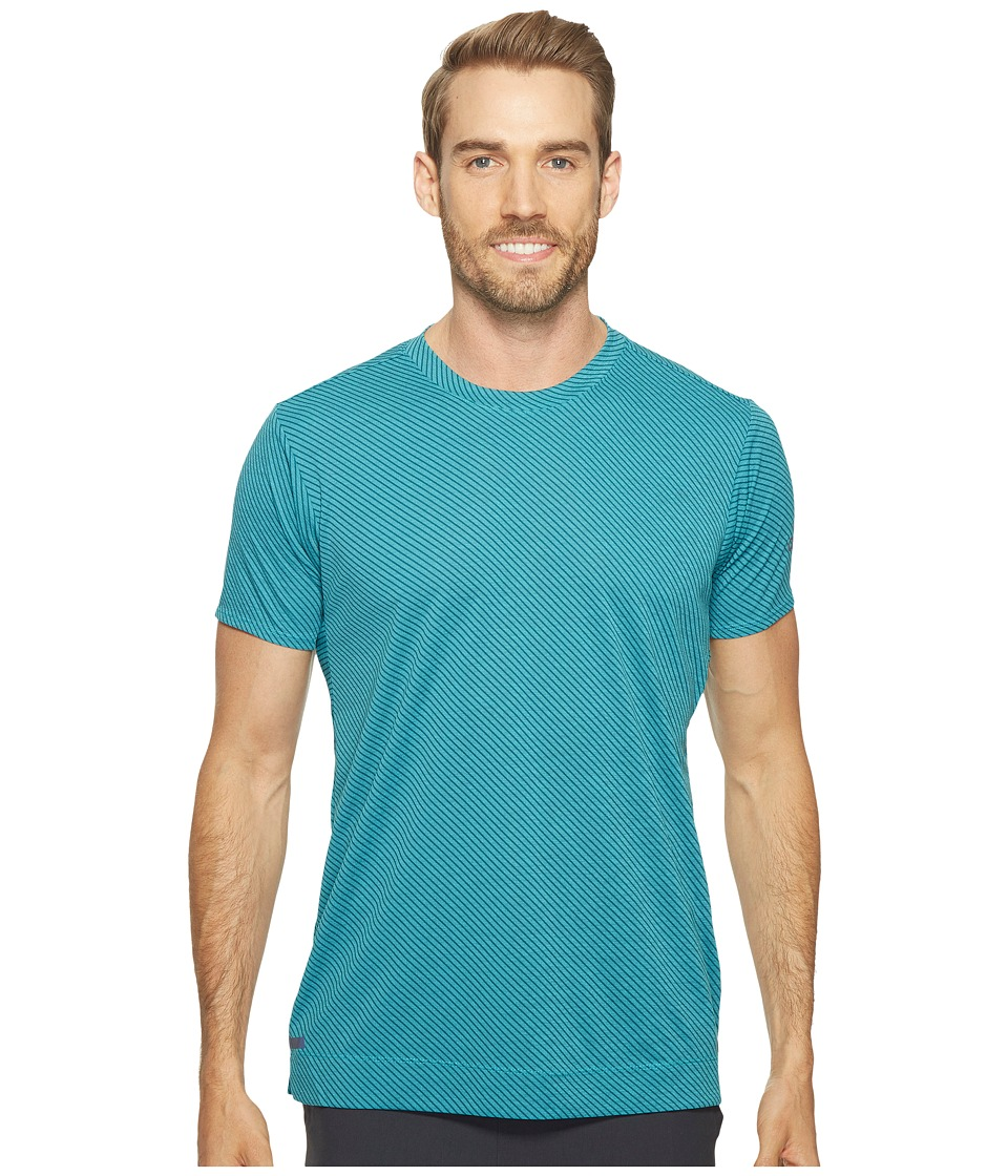 adidas - Freelift Tee - Climachill Speed Series Stripes (Chill Energy Blue/Tech Green) Men's T Shirt