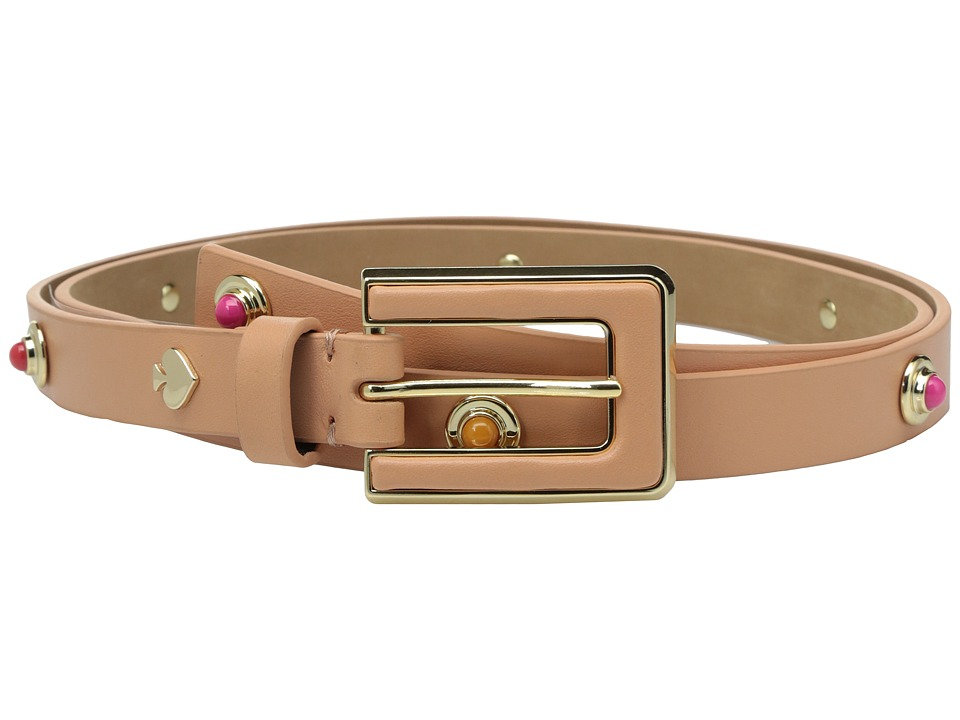 Kate Spade New York - 3/4 Leather Belt w/ Enamel and Metal Studs (Masala) Women's Belts