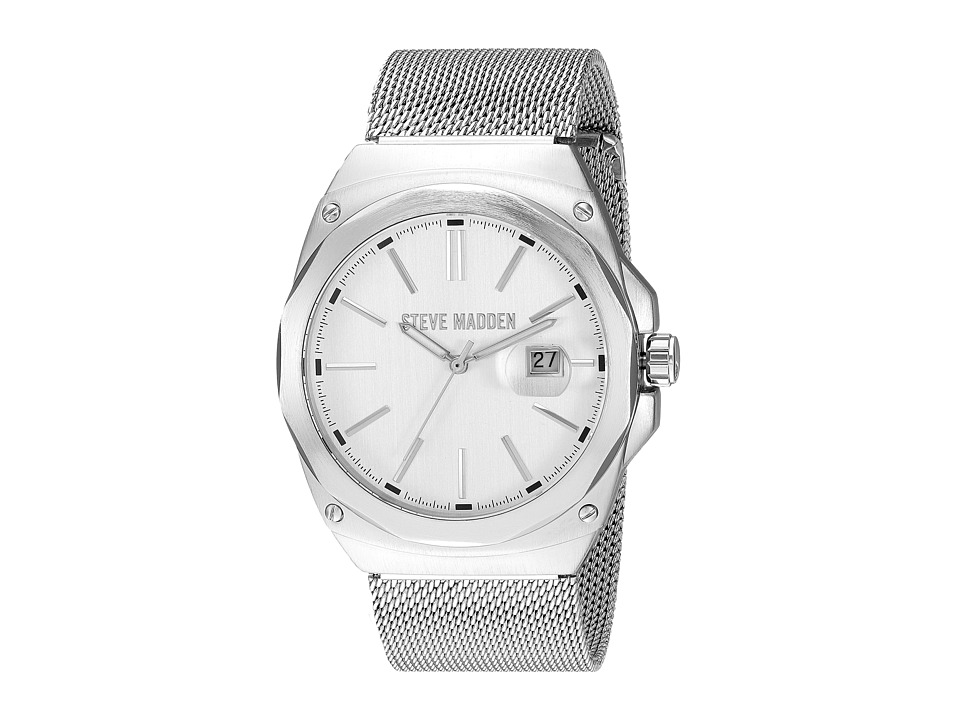 Steve Madden - Steel Mesh Band Watch (Silver) Watches