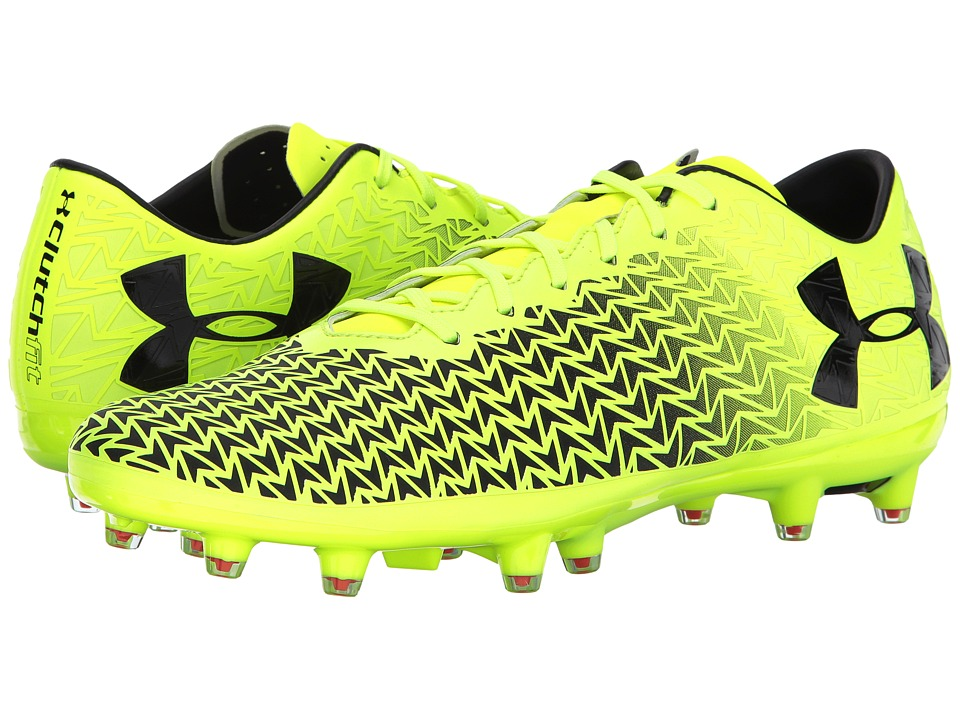 Under Armour - UA Corespeed Force 3.0 FG (High-Vis Yellow/Black/Rocket Red) Men's Soccer Shoes