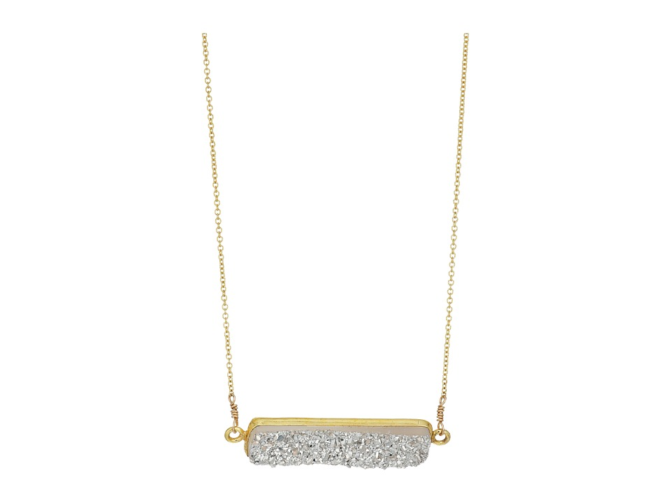 Dee Berkley - Horizontal Drusy Necklace Silver (Silver/Gold) Necklace