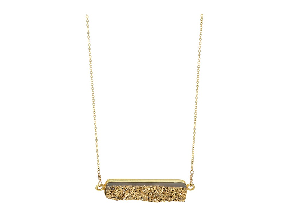 Dee Berkley - Horizontal Drusy Necklace Gold (Gold) Necklace