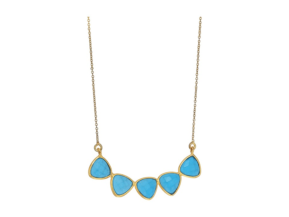 Dee Berkley - 5 Gemstone Necklace Turquoise (Turquoise) Necklace