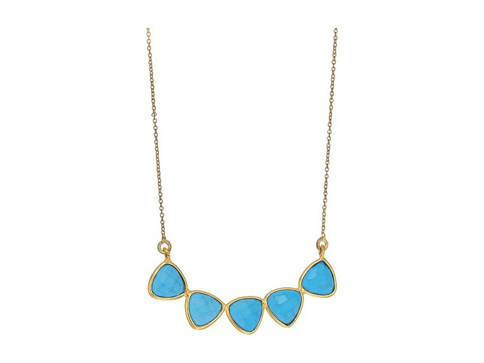 Dee Berkley - 5 Gemstone Necklace Turquoise (Turquoise) Necklace