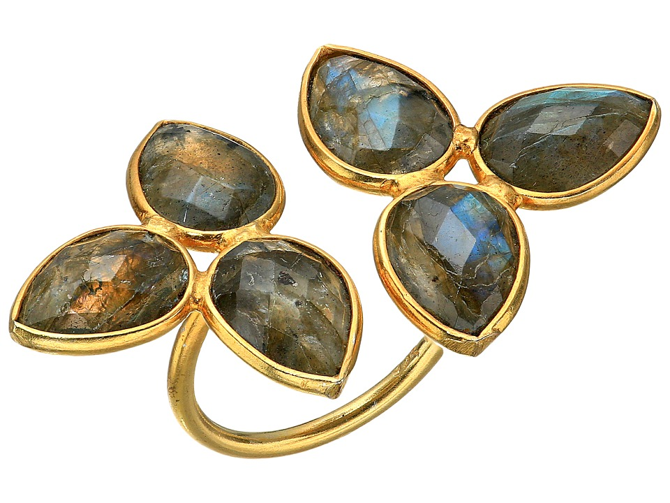 Dee Berkley - Gemstone Flower Ring Labradorite (Gray) Ring