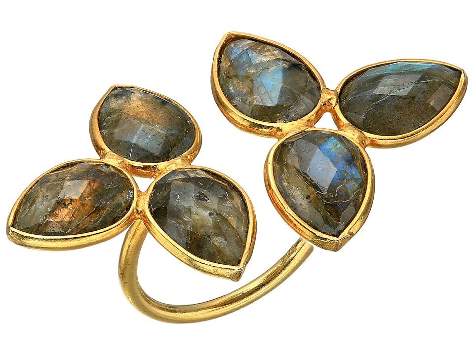 Dee Berkley - Gemstone Flower Ring Labradorite (Gray) Ring