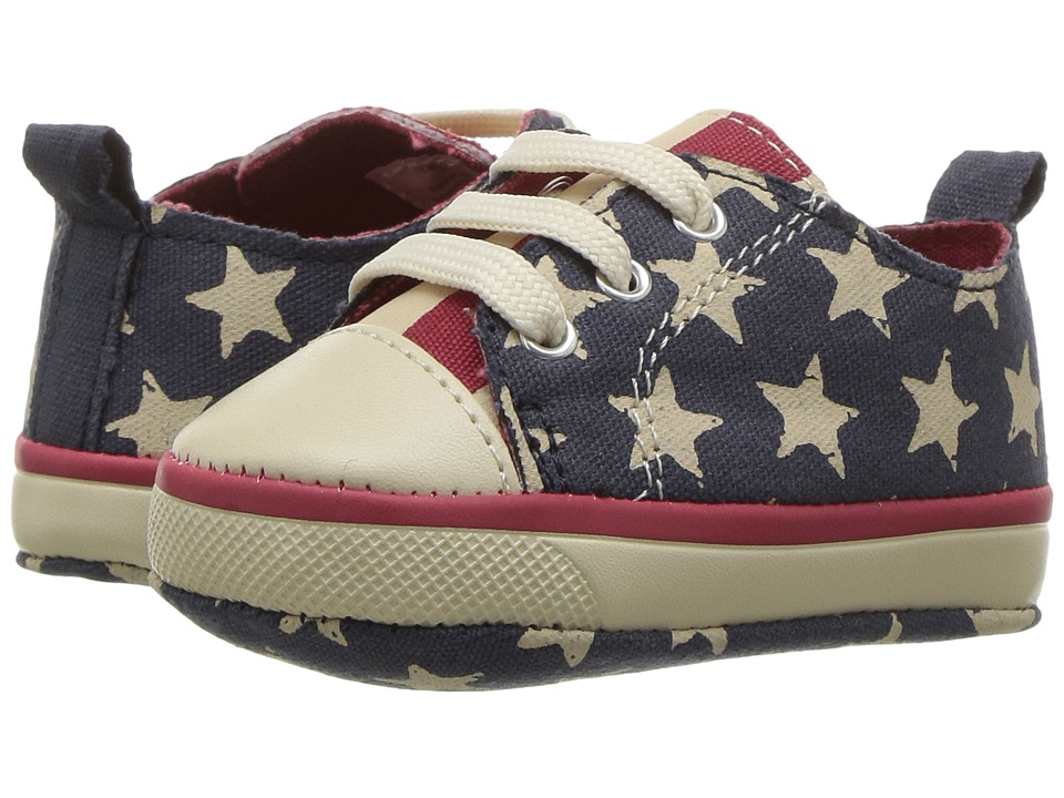 Baby Deer - Canvas American Sneaker (Infant) (Navy/Red) Boy's Shoes