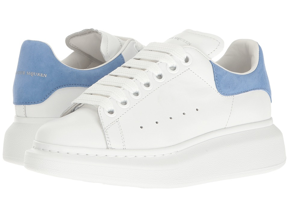 Alexander McQueen - Lace-Up Sneaker (White/Cornflower) Women's Lace up casual Shoes
