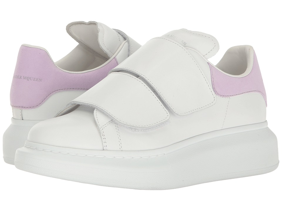 Alexander McQueen Hook and Loop Sneaker (White/Lilac) Women