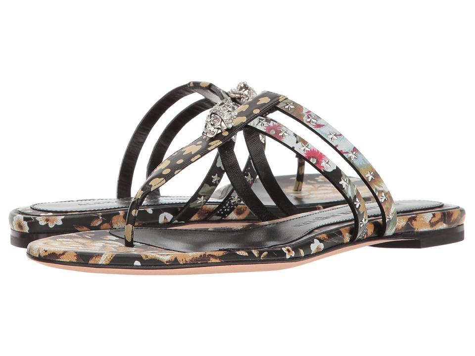 Alexander McQueen - Sandal Pelle S.Cuoio (Black/Multi/Black/Multi) Women's Sandals