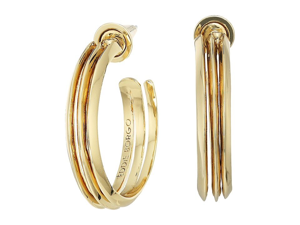 Eddie Borgo - Trace Hoops Earrings (Gold) Earring