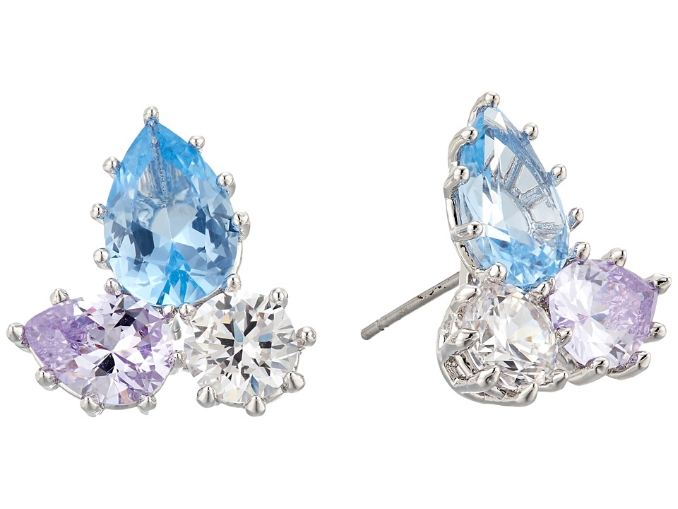 Eddie Borgo - Estate Pop Studs Earrings (Rhodium/Blue Multi) Earring