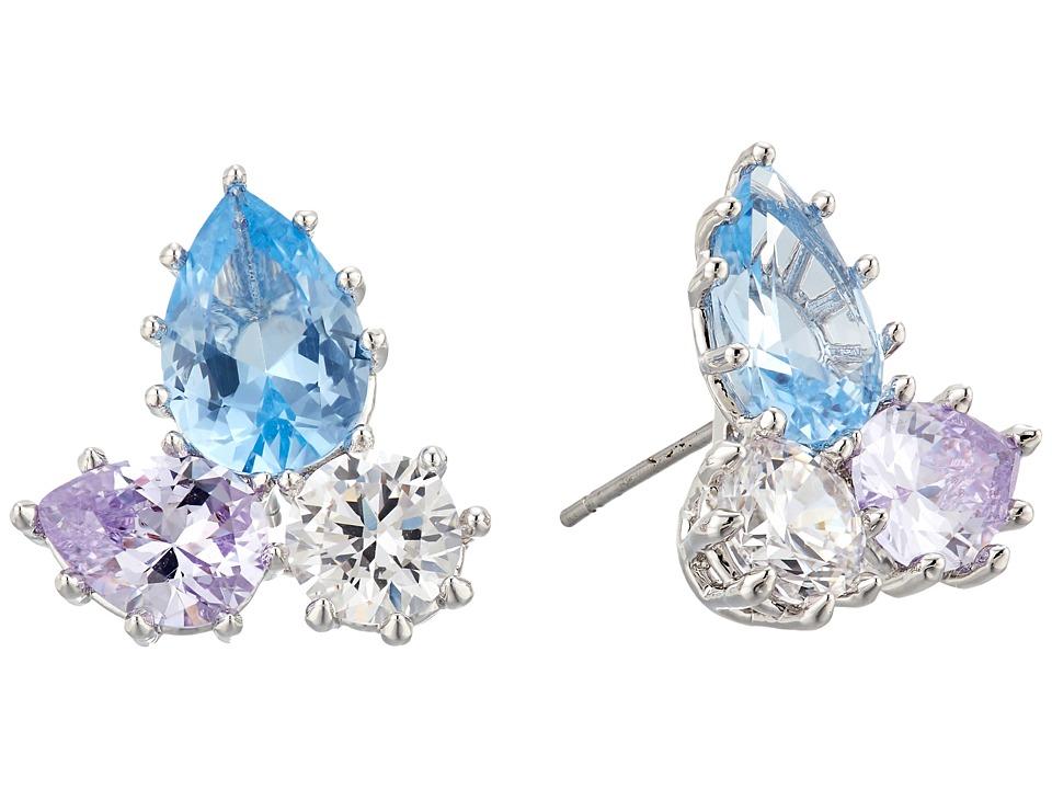 Eddie Borgo - Estate Pop Studs Earrings (Rhodium/Blue Multi) Earring